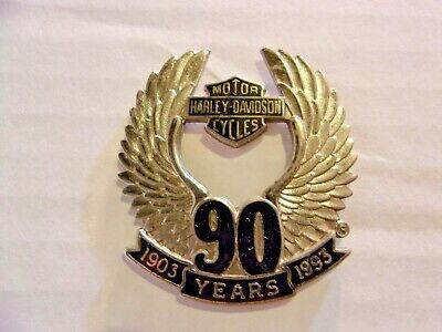 Harley Davidson 90 Years  1903 - 1993 Vest Hat Pin