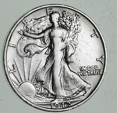 Strong Feather Details - 1942-S Walking Liberty Half Dollars - Huge Value *546