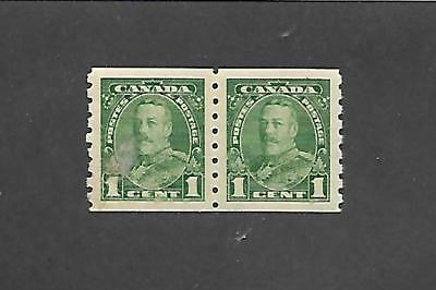 Canada Stamps #228 Pair (Nh) From 1935 Ink On Gum