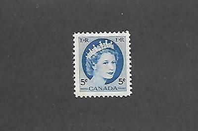 CANADA STAMPS #341pii (NH) FROM 1954-61
