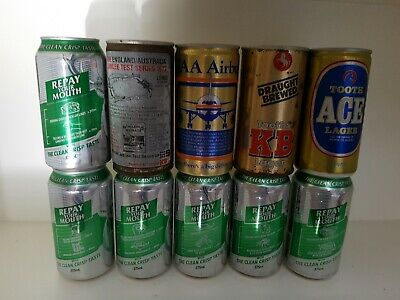10 Mixed Australian Beer Cans