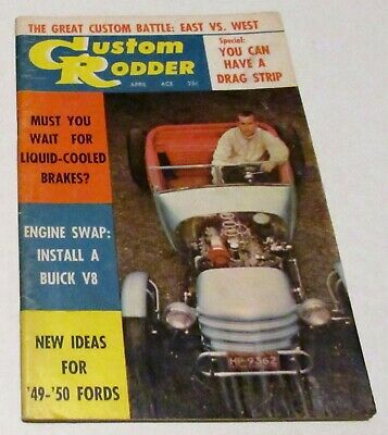 """Lot of 2 Vintage 1958 Car Magazines """"Car Speed and Style"""" and """"Custom Rodder"""""""