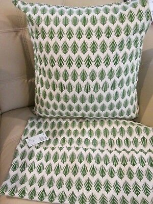 New Set 2 Hm Home Contemporary Navy Leaf Pillow Covers 20x20 100