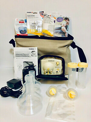 Medela Advanced Personal Double Electric Breast Pump w/ Built in Cooler Tote Bag