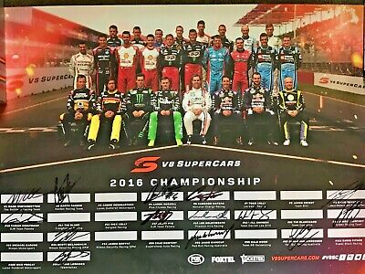 2016 V8 Super Car Championship Drivers Poster AUTOGRAPHED by most drivers