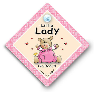 Baby on Board Sign, Little LADY Car Sign, Grandchild On Board, Baby Car Sign