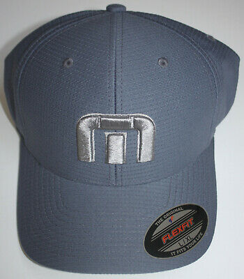 18dd4be772cdd TRAVIS MATHEW Men s Large XL Blue Gray Golf Cap Hat Flexfit BAHAMAS TM Logo  New