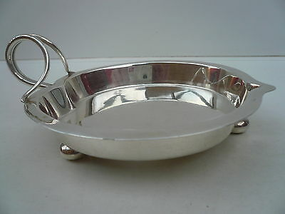 Silver Ashtray, Sterling, Antique, English, Cigar, Table, Hallmarked 1894