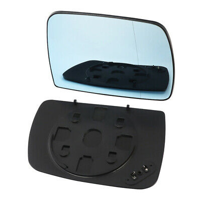 Right Driver Side Blue For Bmw X5 E53 00-2006 Mirror Glass Heated W/ Back Plate