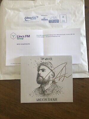tom walker Signed Cd What A Time To Be Alive Hand Signed Won On Radio Comp