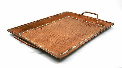 Antique Arts & Crafts John Pearson Copper Tray Hammered 37 x 23 cm
