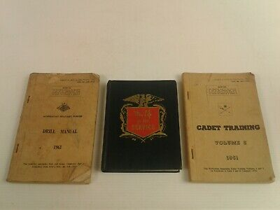 1960's Australian Army Cadet training/Drill Manual & My Life in Service notebook