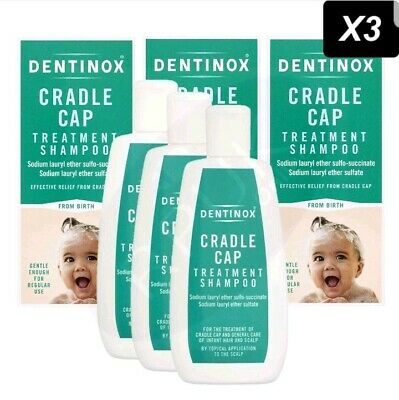 3x DENTINOX Cradle Cap Treatment Shampoo Baby Suitable from Birth 125ml