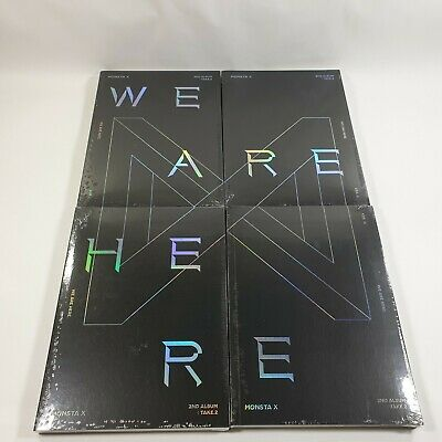 MONSTA X 2nd album Take.2 We Are Here Official CD Booklet Photocard K-POP Sealed