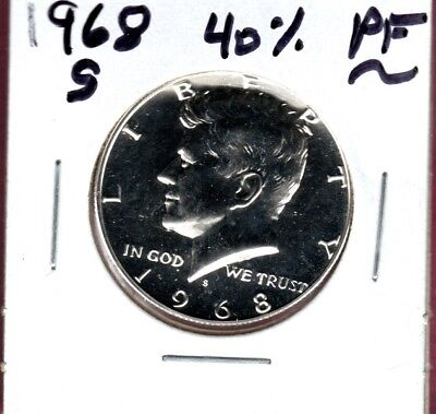 1968-S Kennedy Half Dollar 40% Silver...a Nice Proof Coin Here... #c80