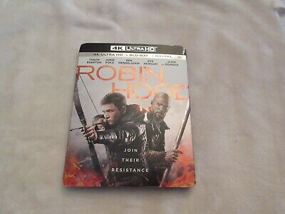 Robin Hood (4K Ultra HD + Blu-ray 2018)with Slipcover ( NO DIGITAL COPY )