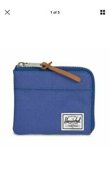 18ecc0f017be8 NEW Herschel Purse Johnny RFID Wallet WITH ORIGINAL PACKING BRAND NEW BLUE