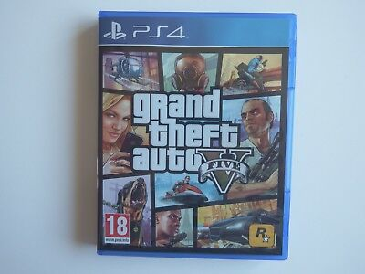 Grand Theft Auto V on PS4 in MINT Condition (Includes Manual but NO Map)