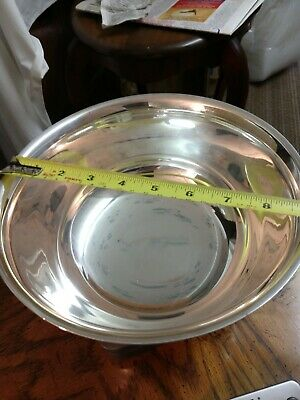 LARGE SOLID STERLING SILVER PAUL REVERE BOWL 26 OZ  AWARD bowl, by Boardman , NR