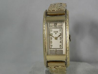1937 ish SERVICED ART DECO VERY LONG & ETCHED ELGIN TOP OF THE LINE