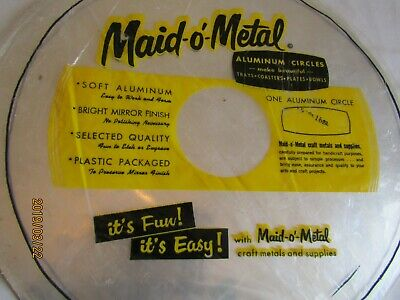 Maid-o-Metal aluminum circle 15 inch 16 gauge craft metals V