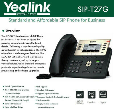 YEALINK SIP-T58A HD Android IP 16-Line PoE IP Phone Smart Bluetooth
