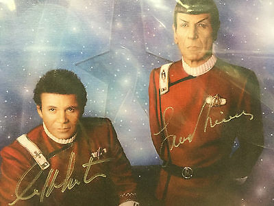 *RARE Star Trek (Kirk & Spock Autograph) Birdsong Canvas Painting Numbered w/COA