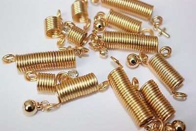 9PC  Hair Coil Dreadlocks Braiding Charms Beads Spring Braid with Charms