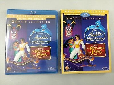 DISNEY'S ALADDIN - KING OF THIEVES & RETURN OF JAFAR - DMC BD+DVD+DHD w/ Slip!