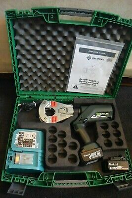 Greenlee Brand 4 Point Dieless Hydraulic Crimper 18V Li-Ion Model EK06FTL #2