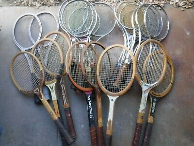 Large lot of Vintage Tennis racquets