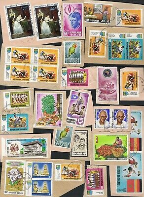 TOGO Kiloware 20g on single paper many Air Mail RARE OPPORTUNITY