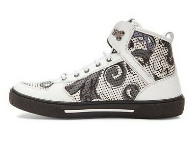 7c696a33de Versace Collection Men's Printed High Top Leather Sneakers US 11 Euro 44