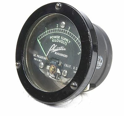 "Phaostron Ruggedized ITT  2.5"" Panel Mount 5KV AC Power Supply 3KV DC Voltmeter"