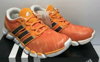 online store 8e527 307d2 Adidas Mens Size 8 Adipure Crazy Quick Running Shoes Orange 3 Stripe Life