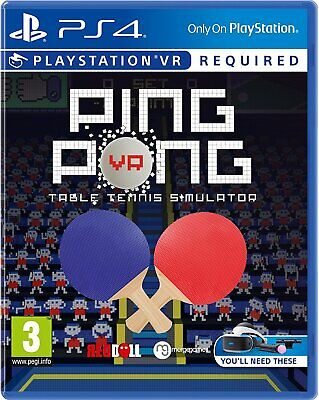 Ping Pong Vr Ps4 Psvr Brand New And Sealed