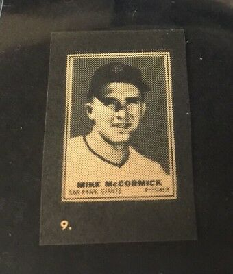 1962 Topps Stamps Album Hand Cut Mike McCormick  **05862
