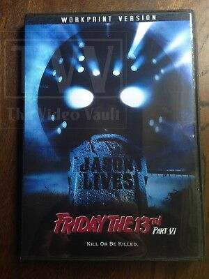Friday the 13th Part VI - (1986) - Jason Lives -  Uncut and Extended - DVD