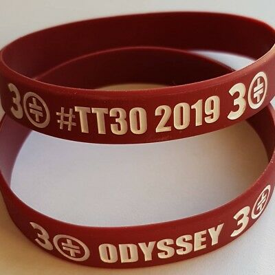 Take That Odyssey Greatest Hits Tour Wristbands - MAROON
