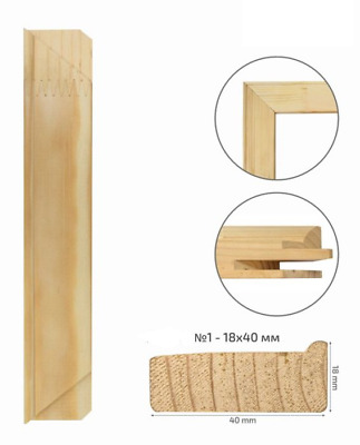 Canvas Stretcher Bars, Canvas Frames, Pine Wood 18 x 40 mm thick, Best Quality