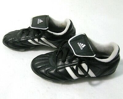 ADIDAS Boy & Girls Black Faux Leather Soccer Cleats Shoes (Size 12K) Kids Sport