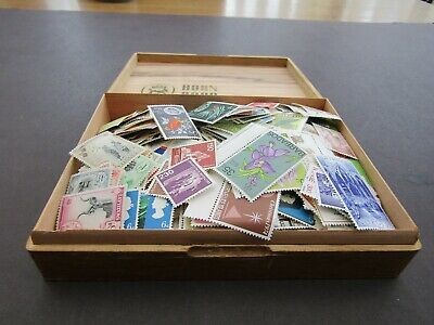 OLD CIGAR BOX FULL OF MNH WORLD STAMPS - COUPLE OF 1000s - PRISTINE