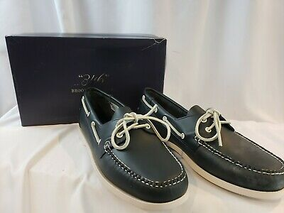 63f363e6b01 Brooks Brothers 13 D Mens Blue Leather Boat Shoes - New in Box