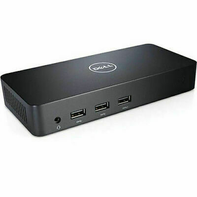Dell D3100 USB 3.0 Ultra HD 4K Triple Display Monitor Docking Station