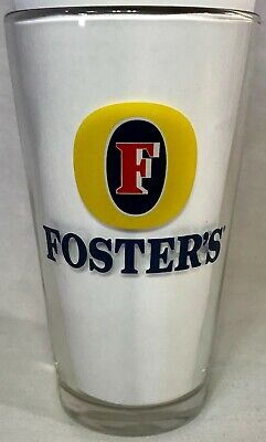 Foster's 16oz Pint Beer Glass, For Collection, Bar, Pub, Or Mancave
