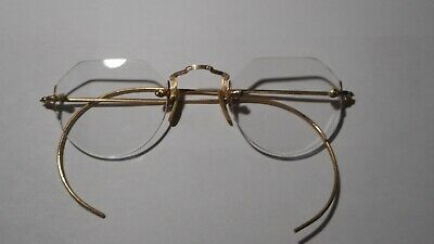 Vintage 10k gold Spectacles from 1920