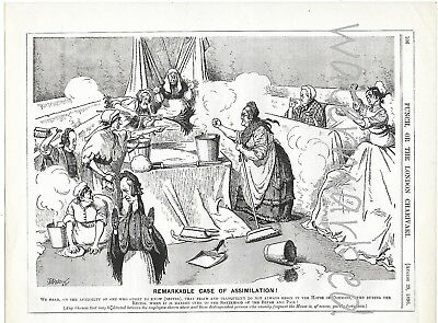 "Vintage cartoon from ""Punch"" 1896: ""Remarkable Case of Assimilation!"""