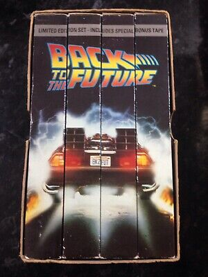 Back to the Future The Trilogy VHS Tapes Part 1 2 3 & Bonus Tape Limited Edition