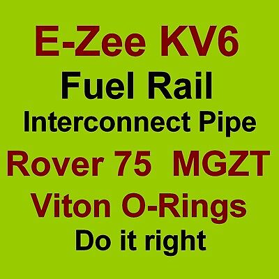 KV6 Fuel Rail Interconnect Pipe VITON O Ring Seals for Rover 75 and MG ZT V6