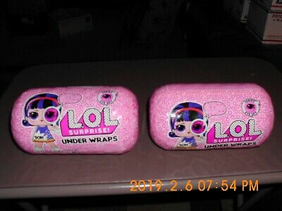 Lot Of 2 New Lol  Suprise Under Wraps Capsule, Eye Spy Series 4 Sealed Capsule